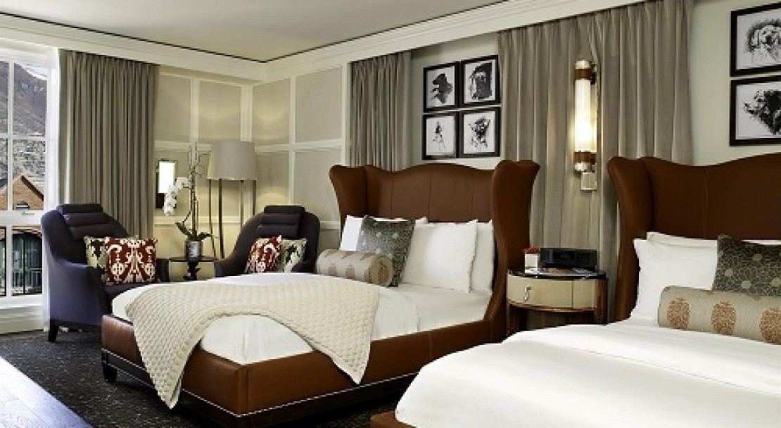 Luxurious rooms at the St Regis, Aspen