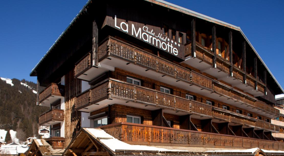 Exterior view at Hotel La Marmotte Les Gets