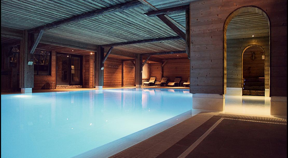 Swimming Pool at Hotel La Marmotte Les Gets