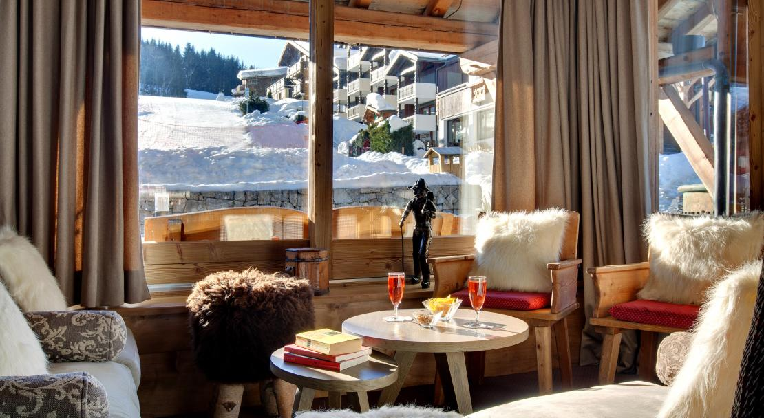 Tea by the slopes at Hotel La Marmotte Les Gets