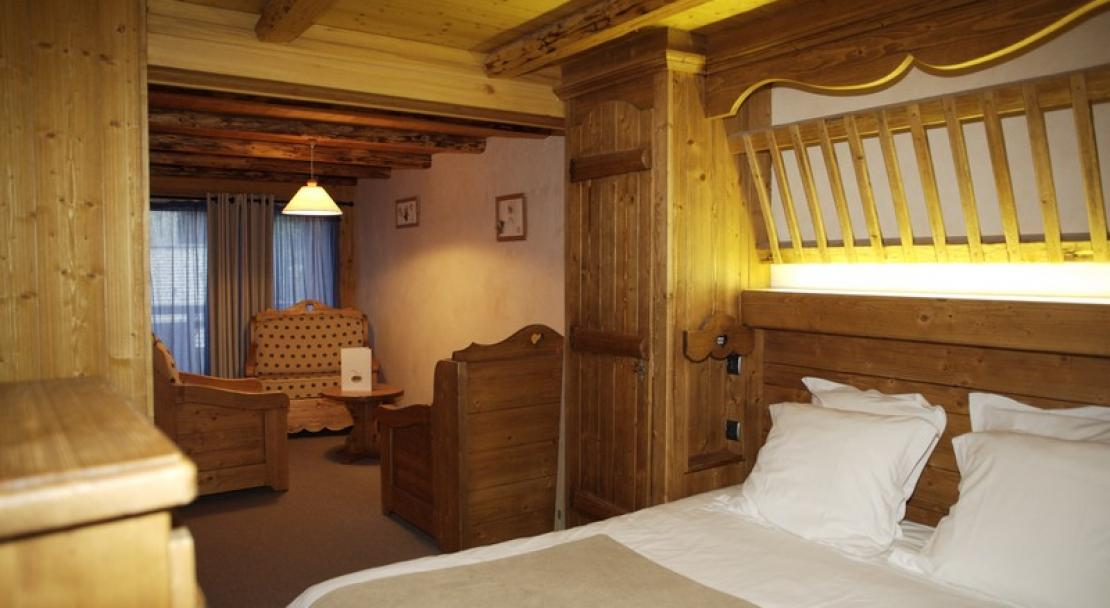 A bedroom at the Chalet Philibert