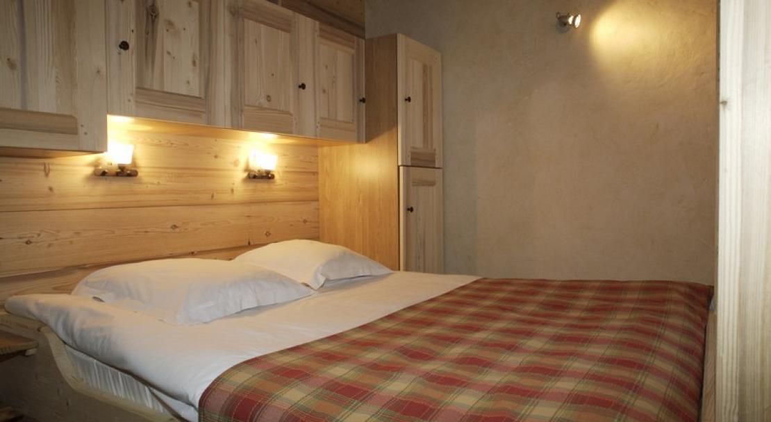 View of a bedroom at the Chalet Philibert