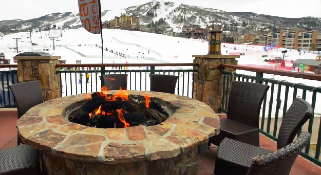 Fire Pit on the Terrace at Sheraton Steamboat Resort - Steamboat