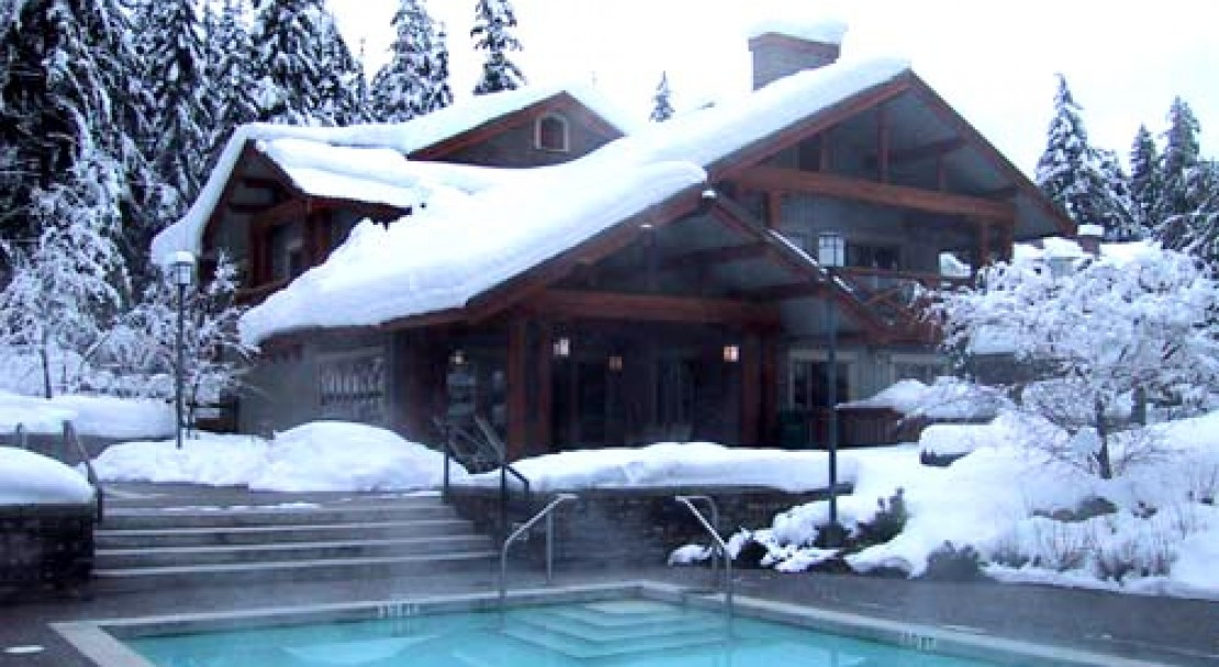 Outdoor pool at Horstman House, Whistler