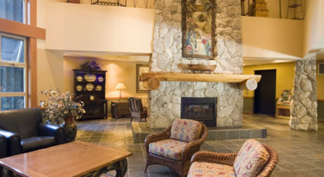 Some of the beautiful decor of Lost Lake Lodge, Whistler, Canada