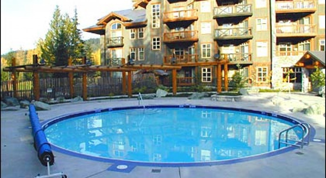 Swimming pool at Lost Lake Lodge, Whistler