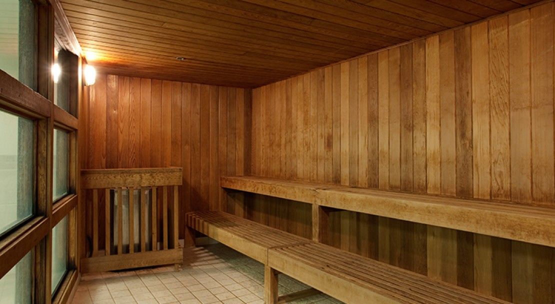 The sauna of Blackcomb Lodge in Whistler, Canada