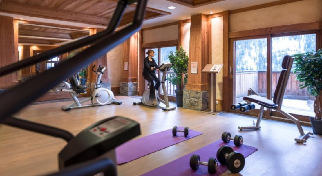 Fitness area in Les Alpages De Champagny