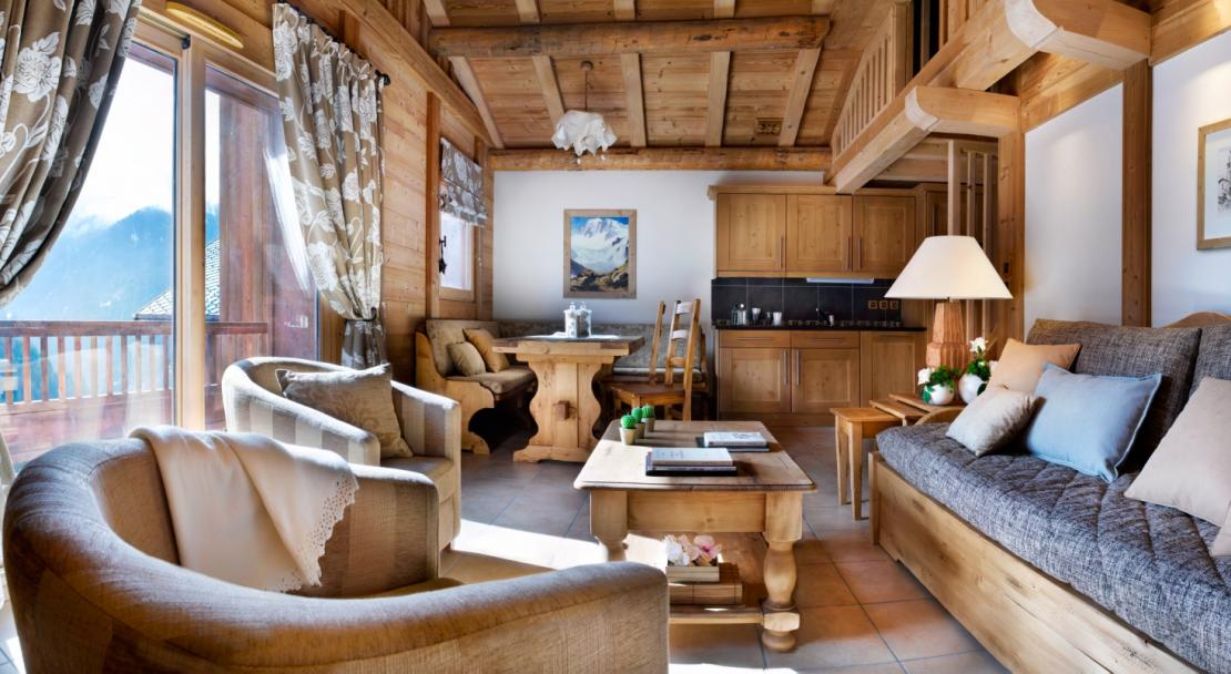 Living Room in Les Alpages De Champagny