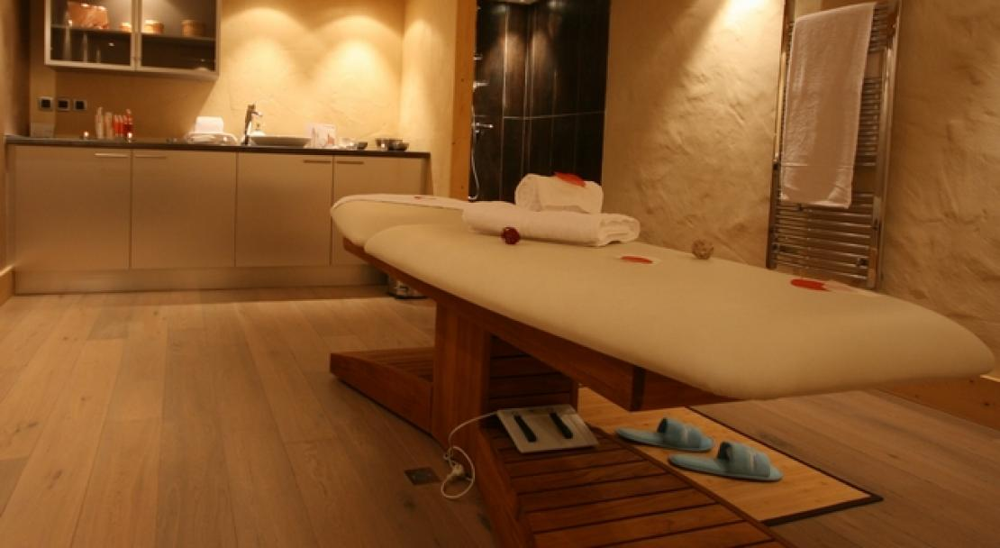 An example of one of the spa treatment rooms at Le Village de Lessy, Le Grand-Bornand/ Chinaillon, France