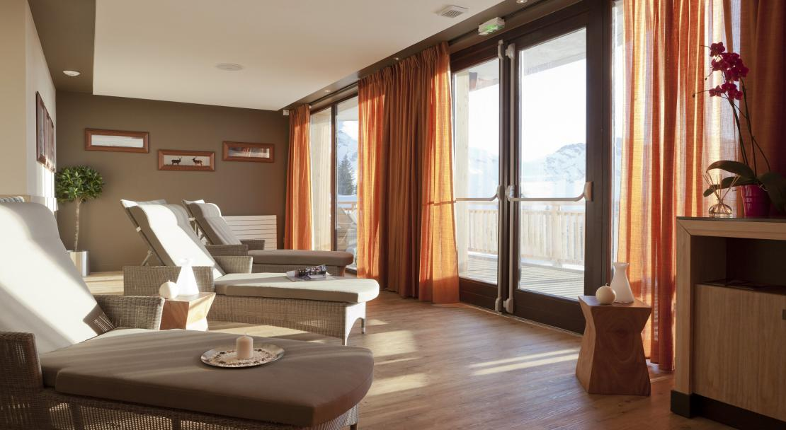 Relaxation area in L'Amara, Avoriaz
