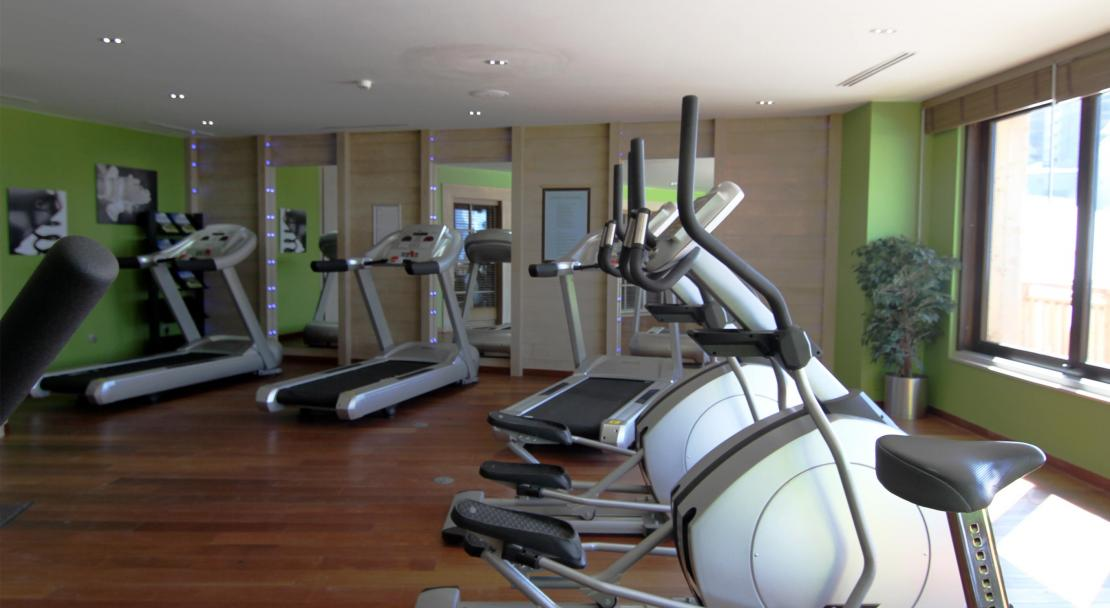 The gym at residence L'Amara