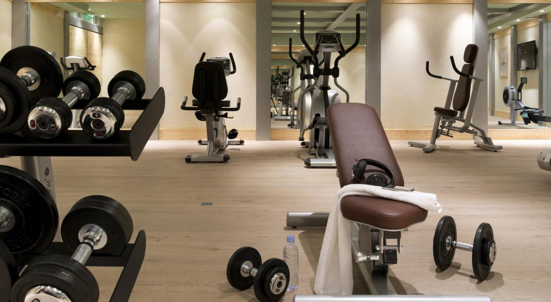 Gym at Le Cristal de l'Alpe; Copyright: Studio Bergoend