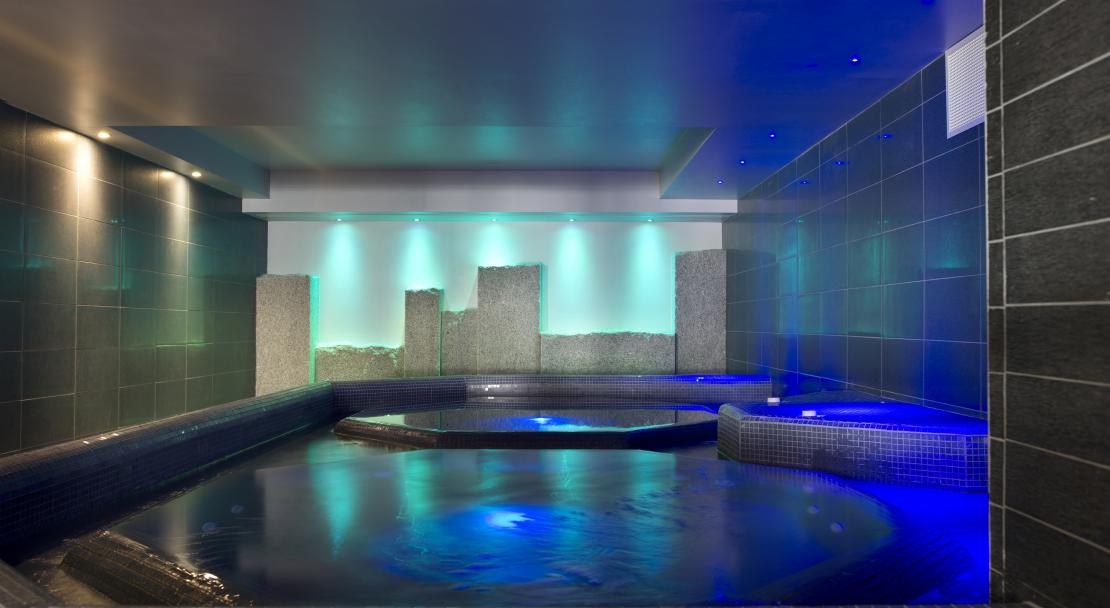 Spa at Le Cristal de L'Alpe - CGH, Alpe d'Huez, France; Copyright: Studio Bergoend