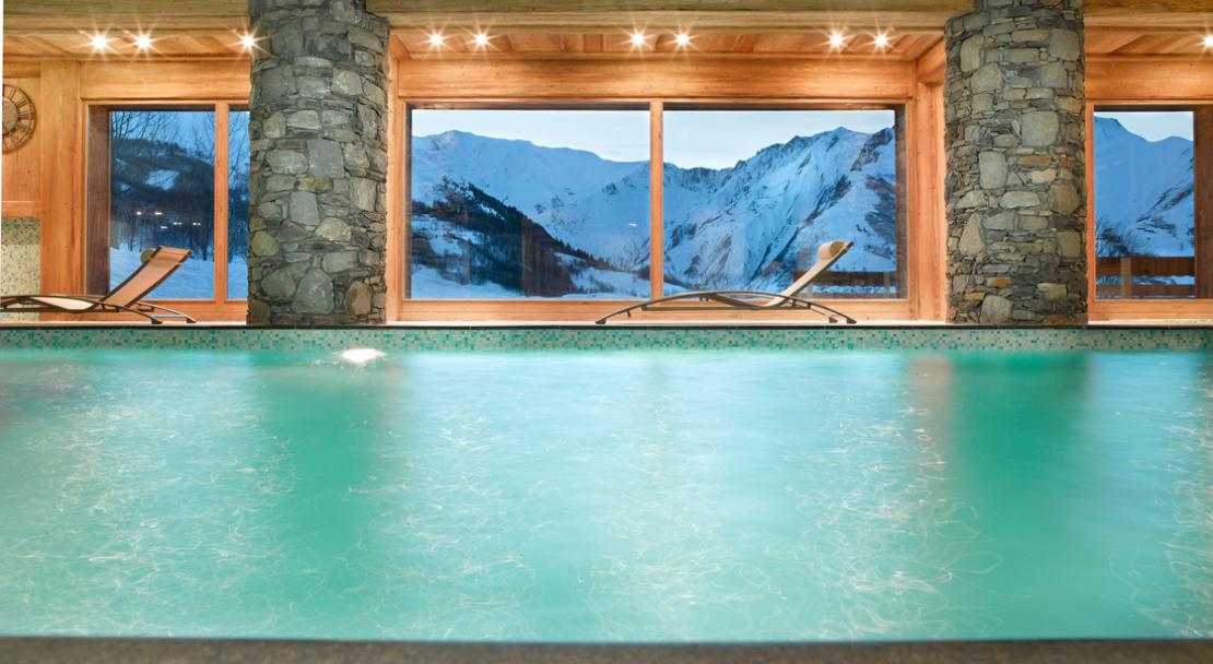 Pool with a view - Les Chalets du Gypse - St Martin de Belleville