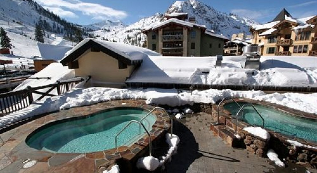 Hot tubs at The Village at Squaw Valley