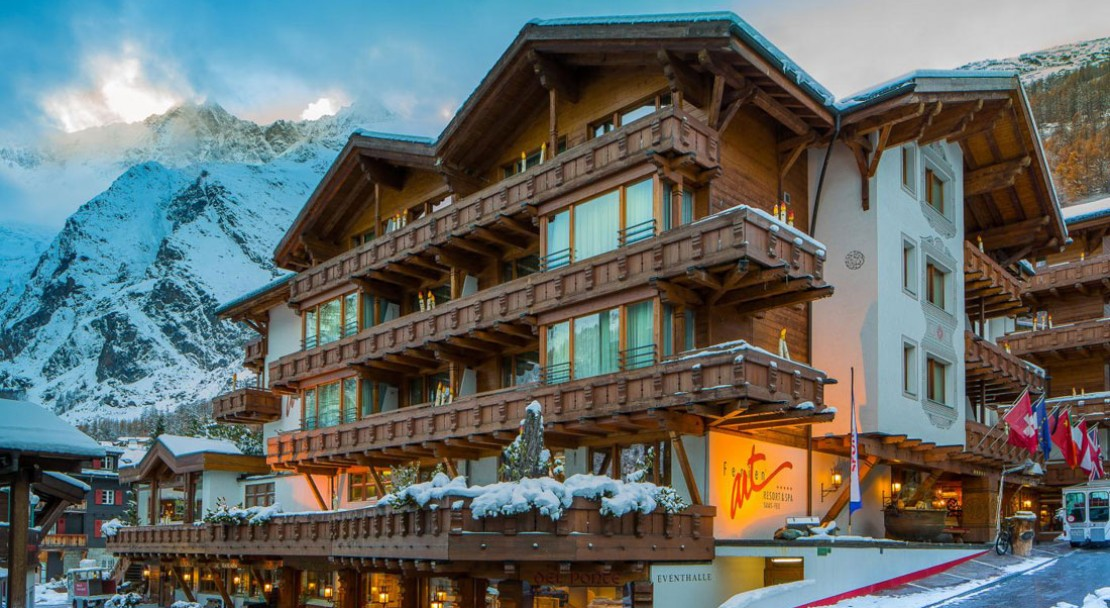 A stunning hotel, well located in the very centre of Saas Fee