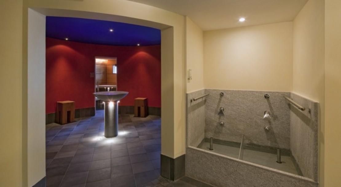 The wellness area of the Best Western Grand Hotel Metropol - Saas Fee