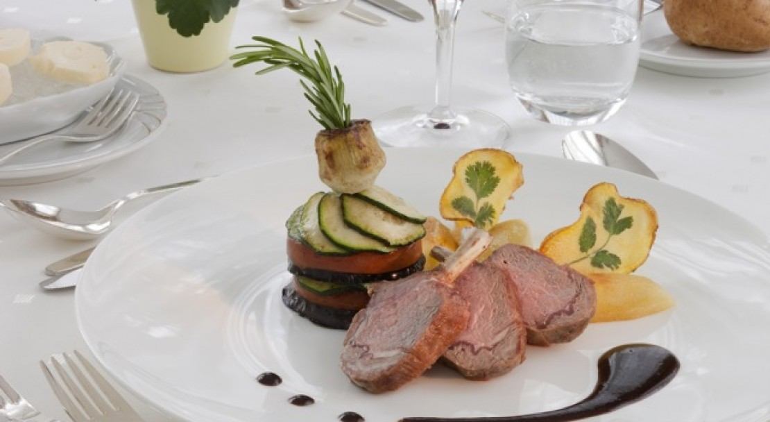 The restaurant at the Best Western Grand Hotel Metropol - Saas Fee