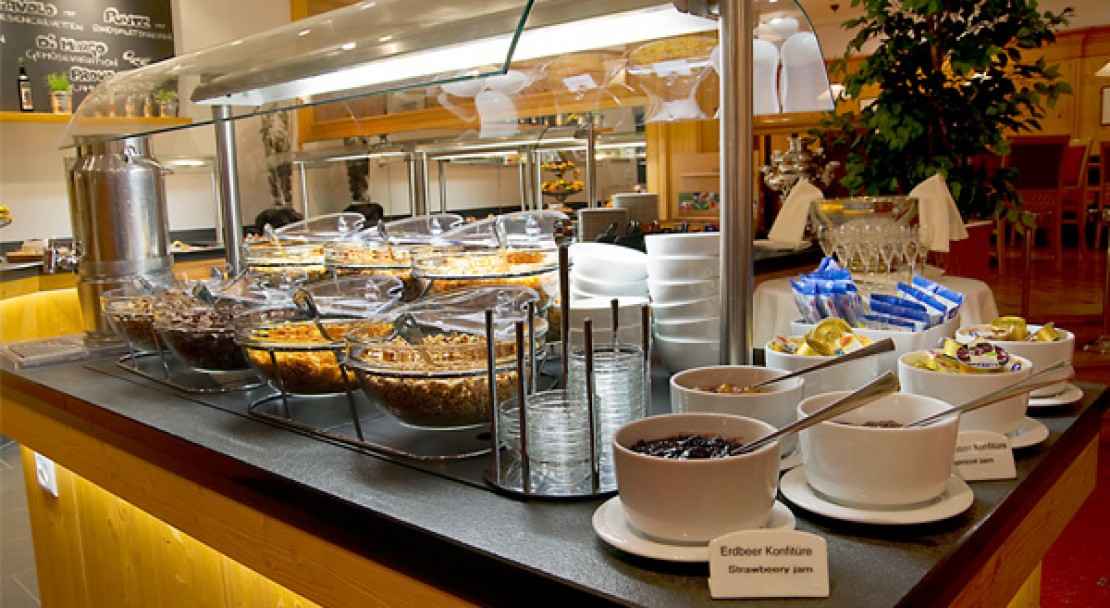 Breakfast buffet at the Ramada Hotel Regina Titlis