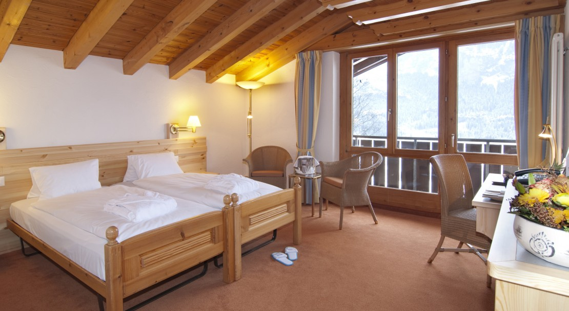 Room in the Hotel Sunstar in Grindelwald