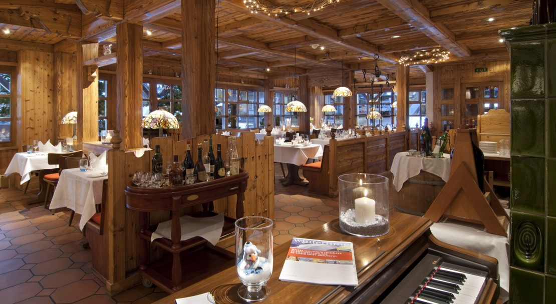 Restaurant in the Hotel Sunstar in Grindelwald