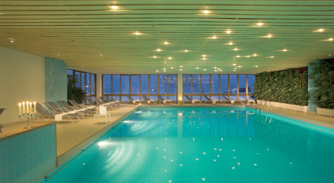 Indoor Swimming Pool at Hotel Sunstar Grindelwald