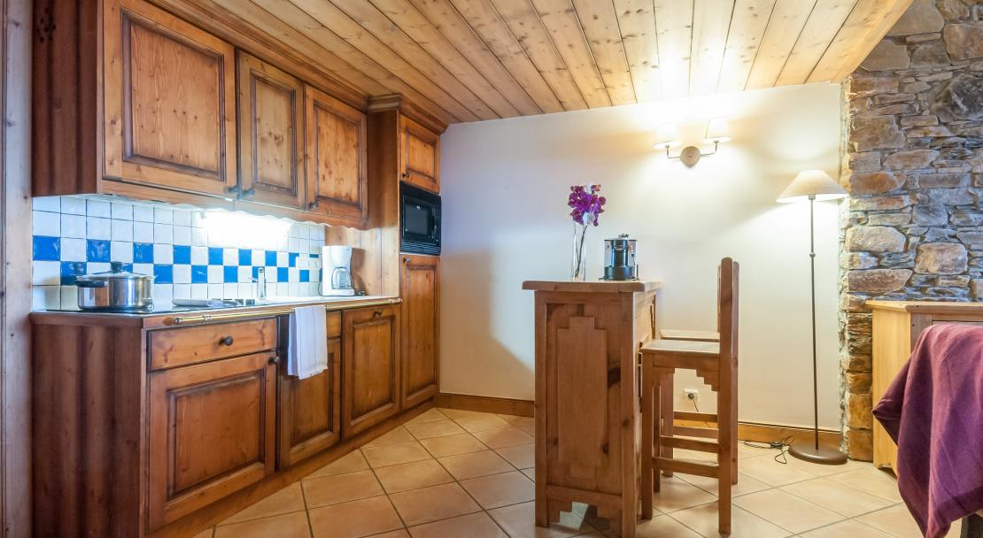 Apartment Kitchen at Les Hauts Bois La Plagne