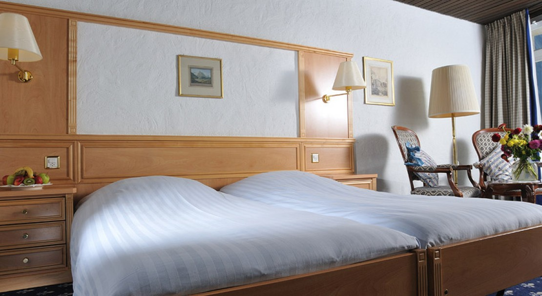 Bedroom 3 at the Hotel Kreuz Und Post in Grindelwald