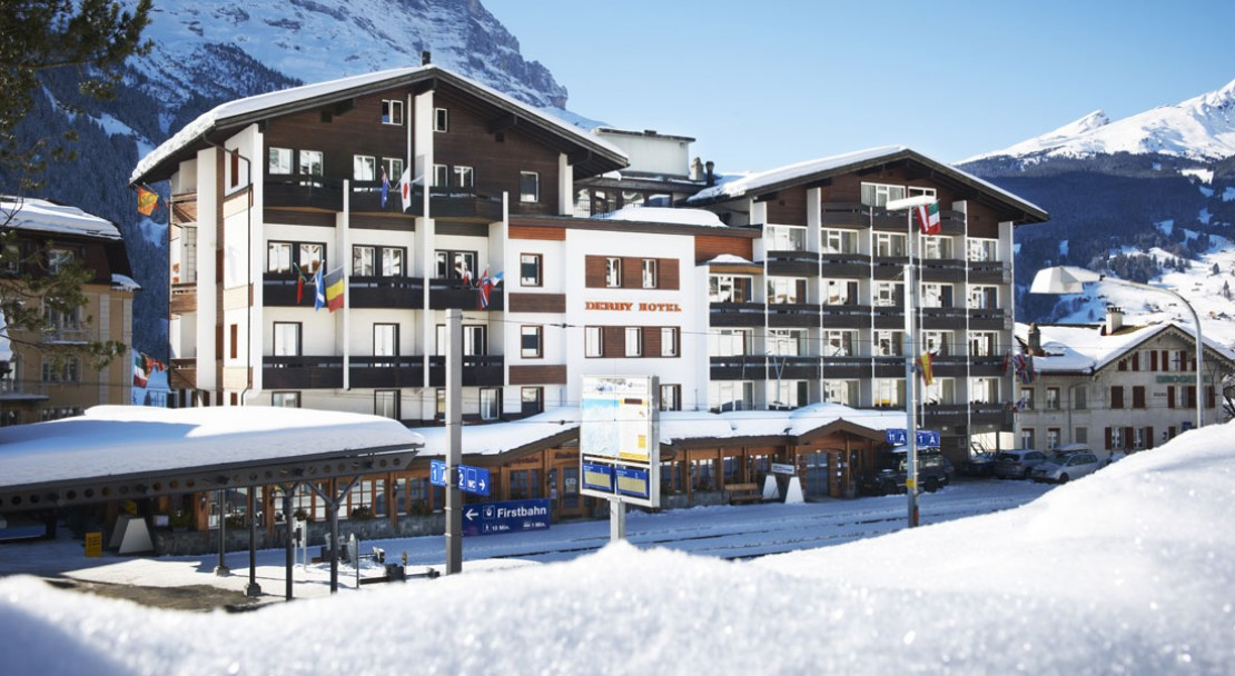 Exterior of Hotel Derby in Grindelwald