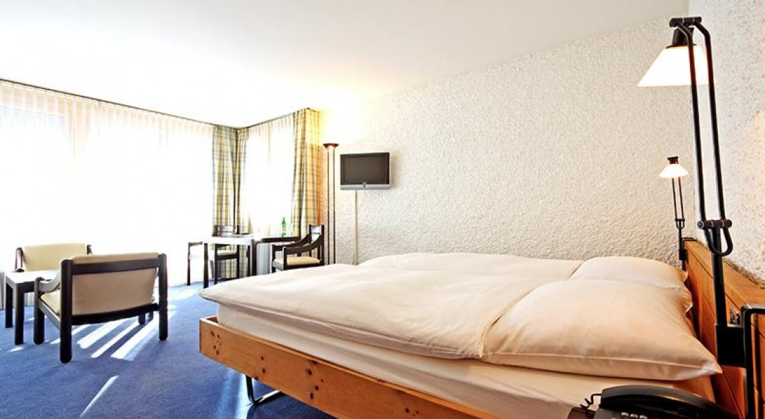 An example of a superior room at the Hotel Hauser in St Moritz