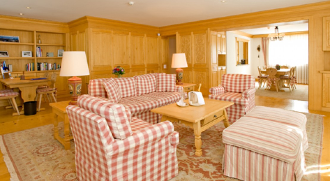 Large, bright and well appointed suites at the Hotel Crystal in St Moritz