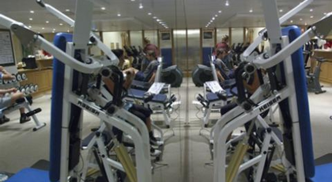 The gym at the Hotel Crystal