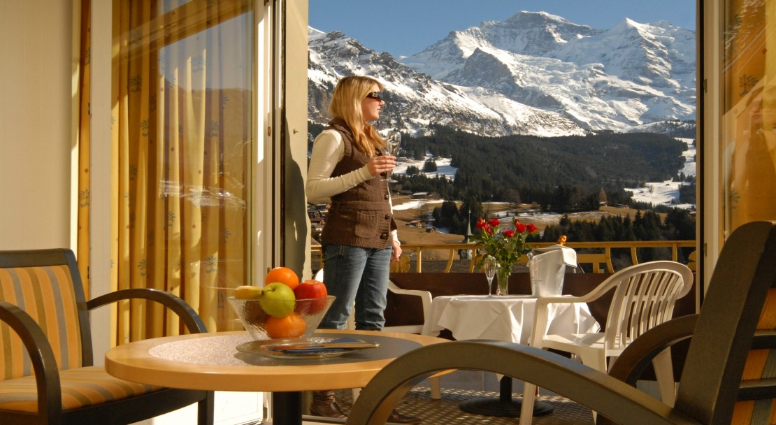 Double room with a view - Hotel & SPA Victoria-Lauberhorn - Wengen