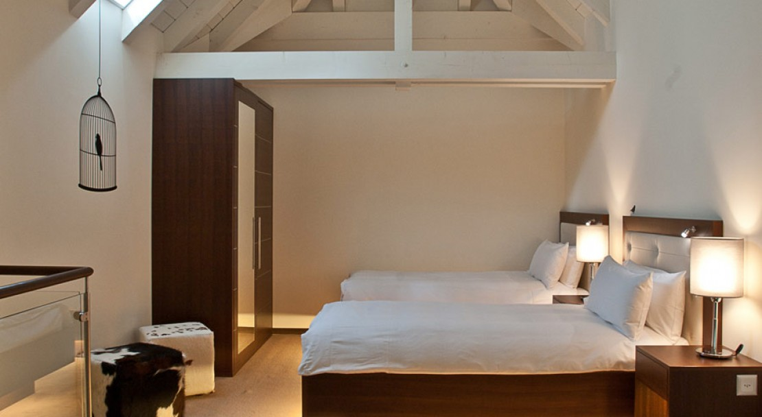 An example of a double suite at The Cambrian - Adelboden