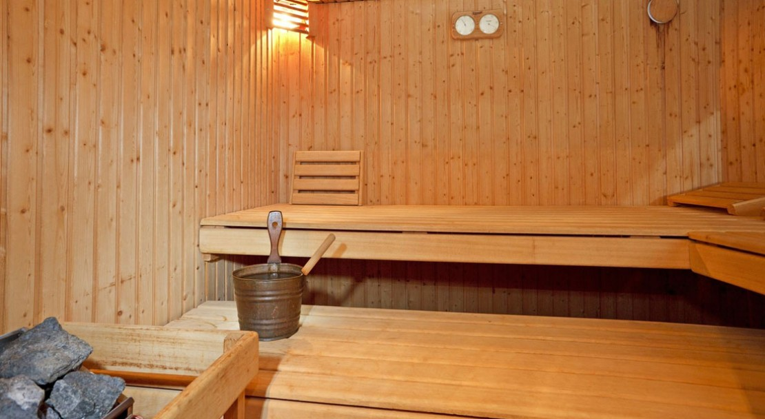 Sauna facilities at the Hotel Sport in Klosters