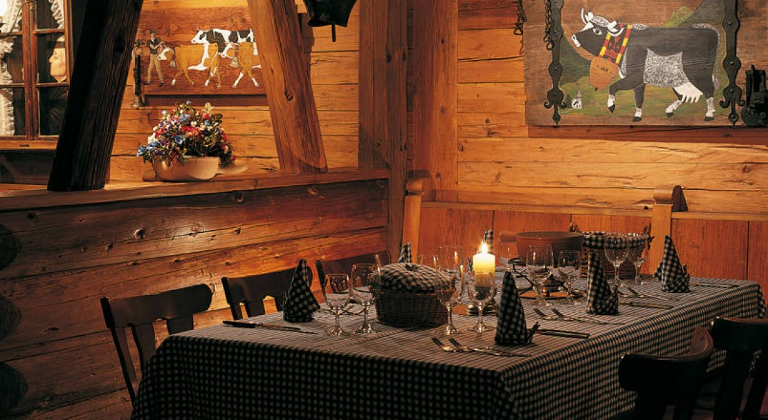 Restaurant Table at the Gstaad Palace Hotel