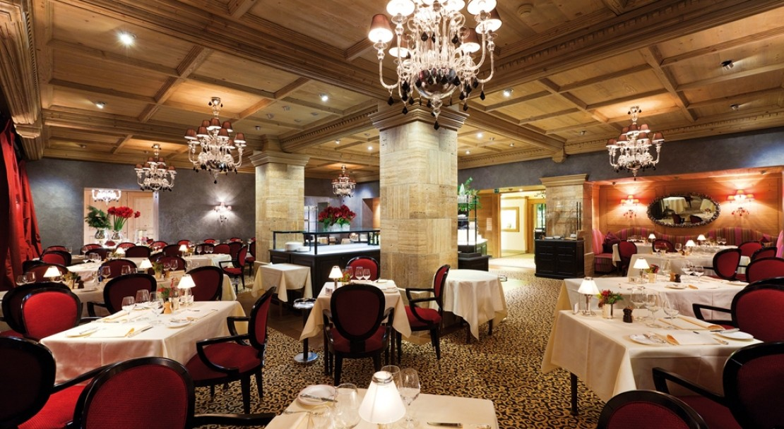 Le Grand Restaurant at the Gstaad Palace Hotel