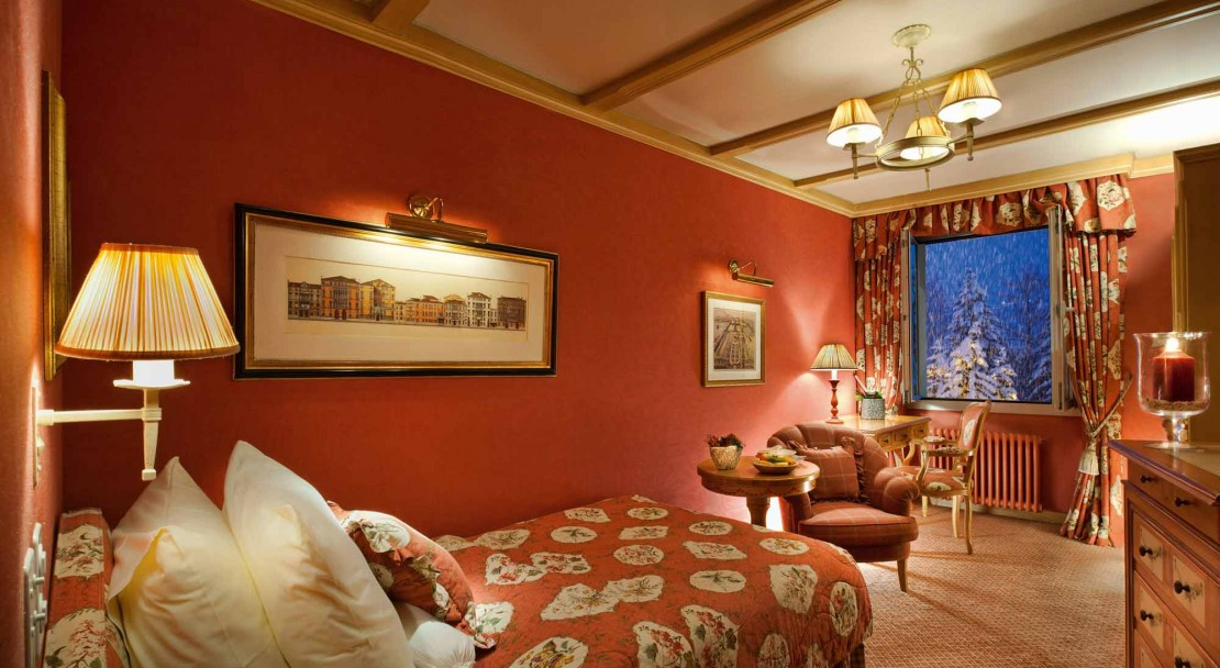 Single room in Gstaad Palace Hotel