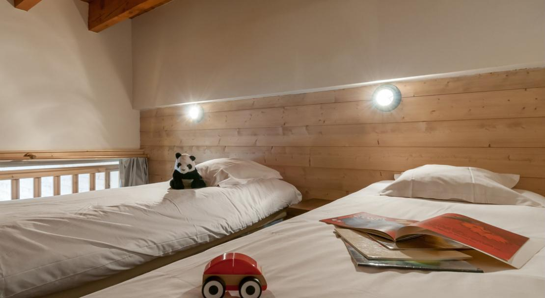Twin bedroom -  Residence Le Belmont - Les Arcs
