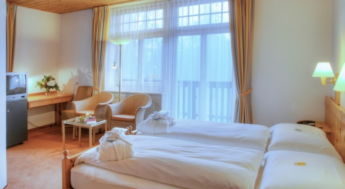 Twin room at the Sunstar Hotel Flims