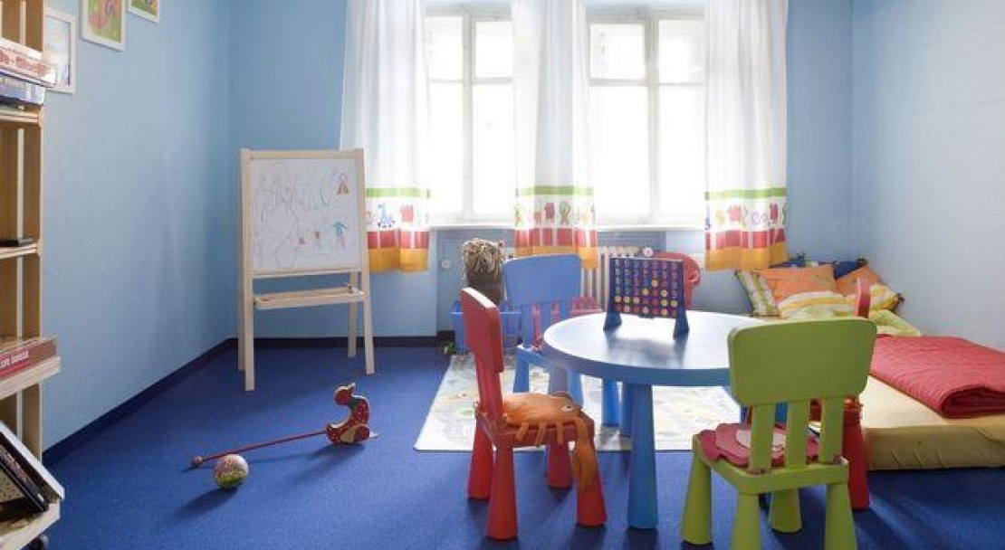The Kids Play Room of the Hotel Strela in Davos Platz - Switzerland