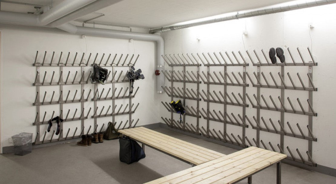 Boot room at the Hotel Ochsen 2