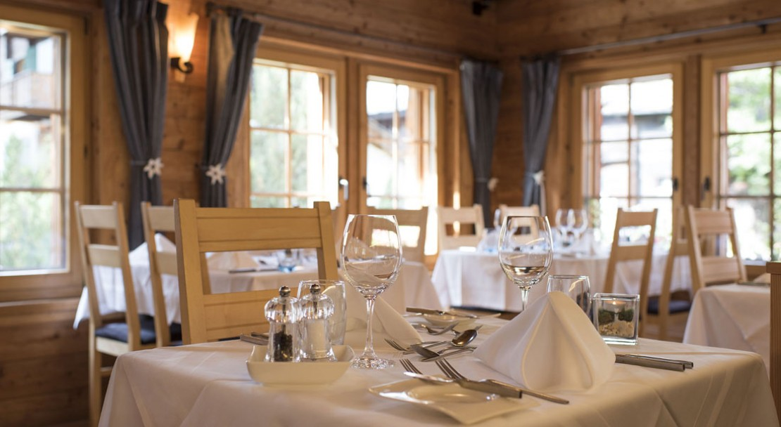 Dining at the Sunstar Style Hotel Zermatt - Switzerland