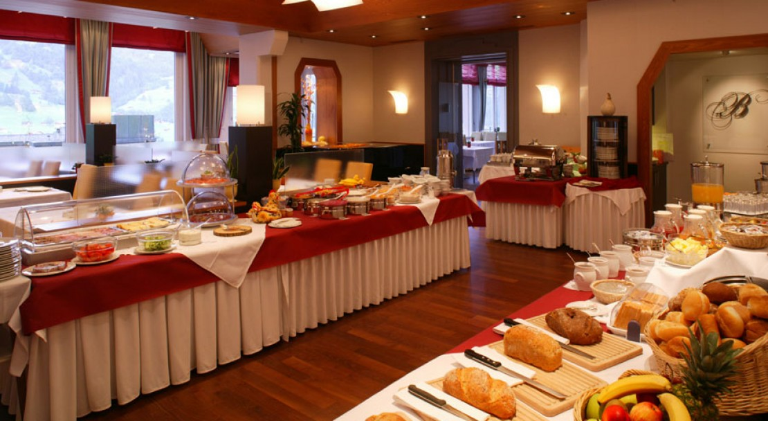 The Breakfast Buffet in the Belvedere Swiss Q Hotel Grindelwald