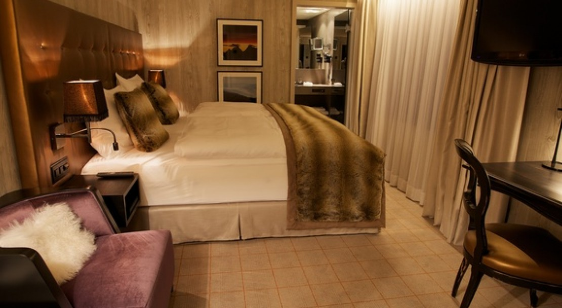 A Double Room in the Grischa - DAS Hotel Davos, Switzerland
