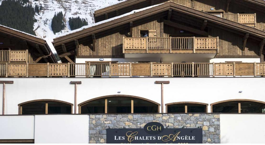 Exterior view of Les Chalets d'Angele