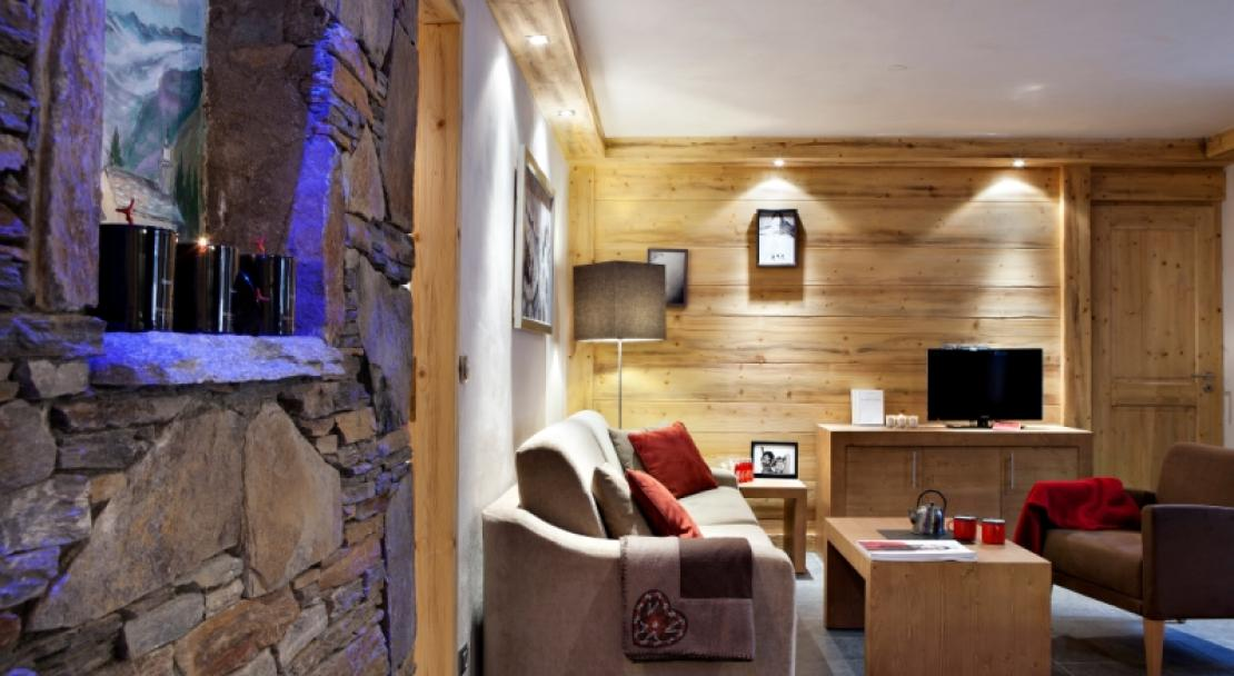 Chalets d'Angele, Chatel, Living Room