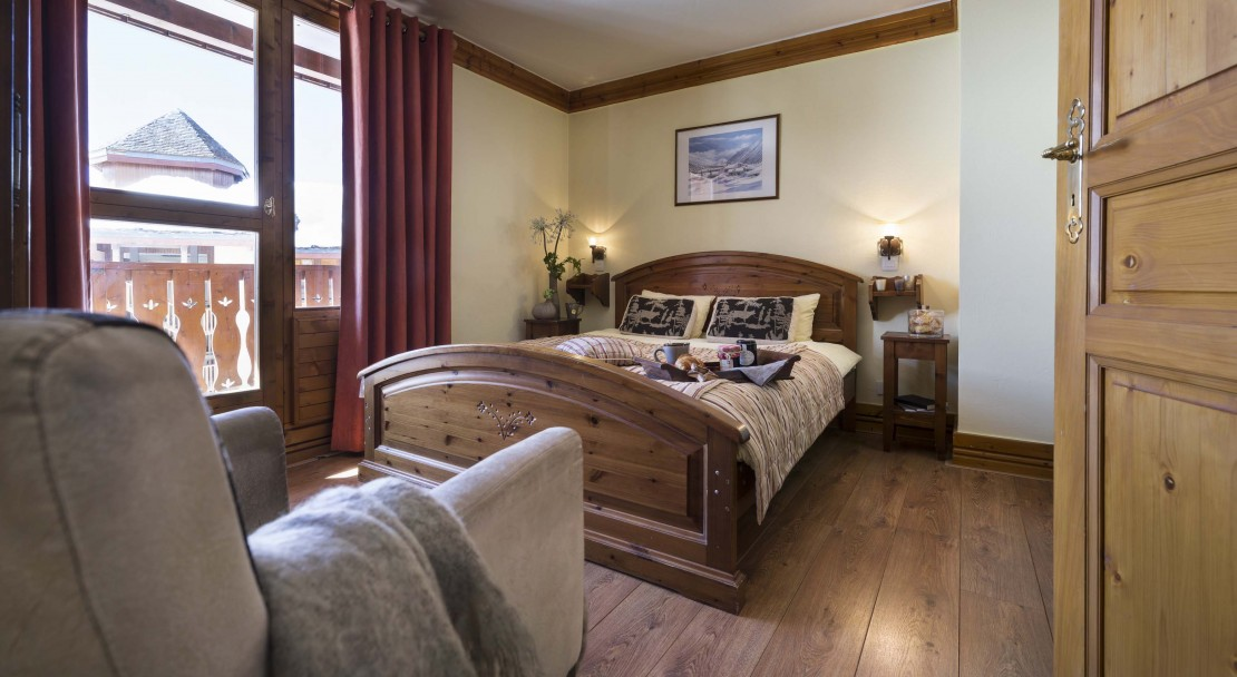 La Plagne Les Cimes Double Bedroom