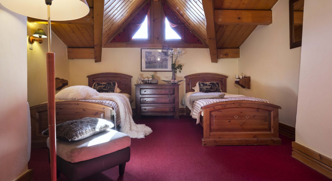 La Plagne Les Cimes Twin Bedroom 2